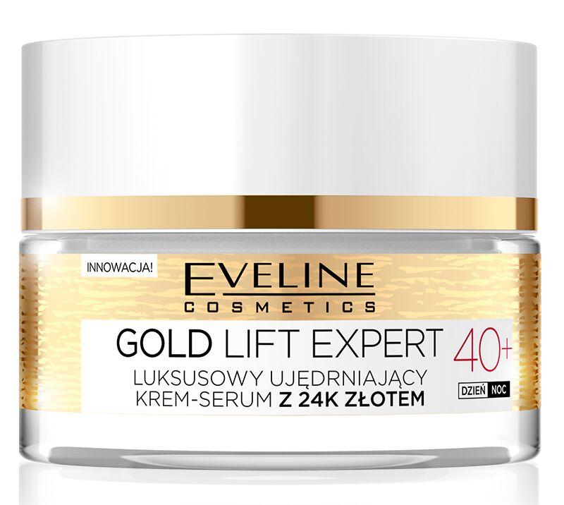 Eveline Cosmetics - GOLD LIFT EXPERT - Luksusowy ujędrniający krem-serum z 24k złotem - 40+