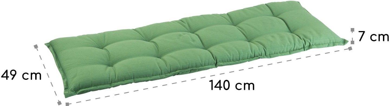Blumfeldt Naxos, poduszka na ławkę, rdzeń piankowy, poliester strukturalny, 140 x 7 x 49 cm