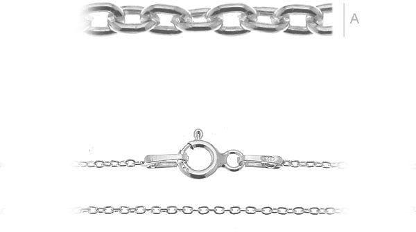 Łańcuszek srebrny do bransoletki Anker