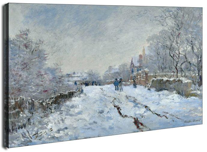 Snow scene at argenteuil, claude monet - obraz na płótnie wymiar do wyboru: 50x40 cm