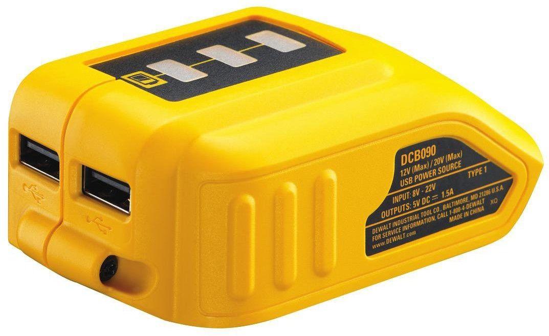 wielonapięciowy adapter USB do akumulatorów XR Li-Ion 10,8V 14,4V 18V DeWalt [DCB090]