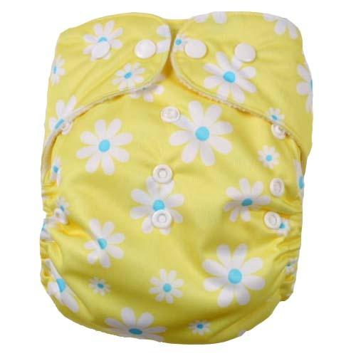 pieluszka wielorazowa PUL rumiankowa żółta