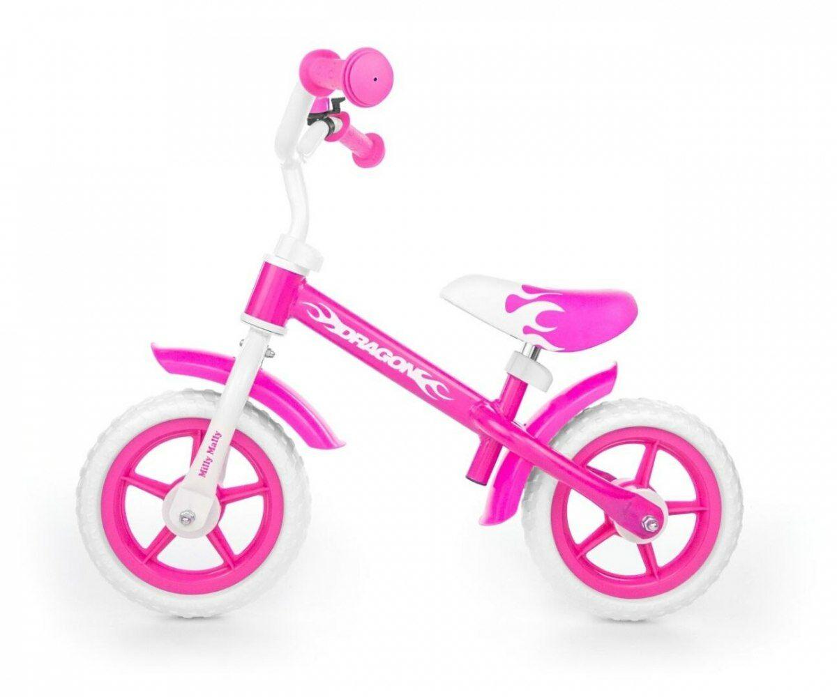 Milly Mally Rowerek Biegowy Dragon pink