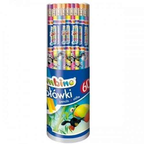 Ołówek drewniany z gumką HB BAMBINO MINI ZOO 1szt.
