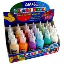 Farby witrażowe 22ml mix kolorów AMOS 1szt /170-1047/ !dostępność 20-04-2021!