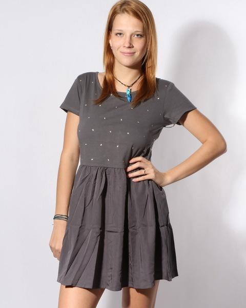 Volcom FUNDAY GIRL CHARCOAL krótkie sukienki - L
