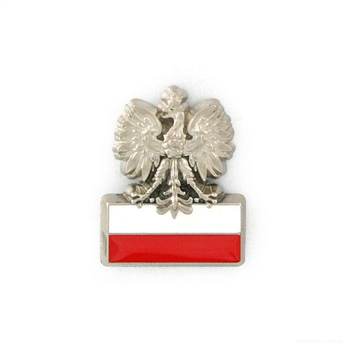 Orzełek - prosty, z polską flagą.