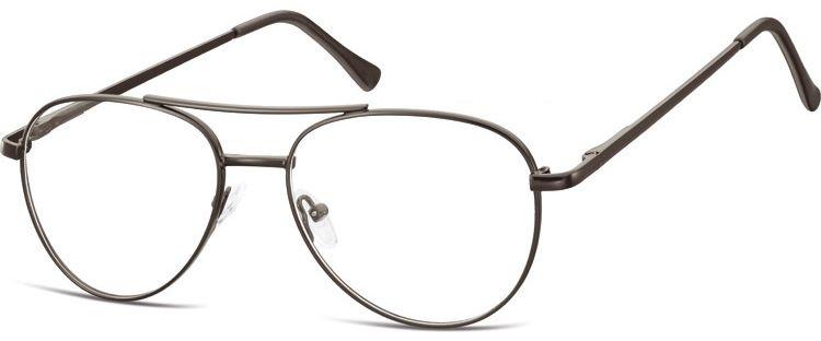 Okulary oprawki Pilotki zerówki metalowe korekcyjne 789 czarne
