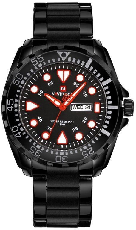 ZEGAREK MĘSKI NAVIFORCE - NF9105 (zn058b) - black/red