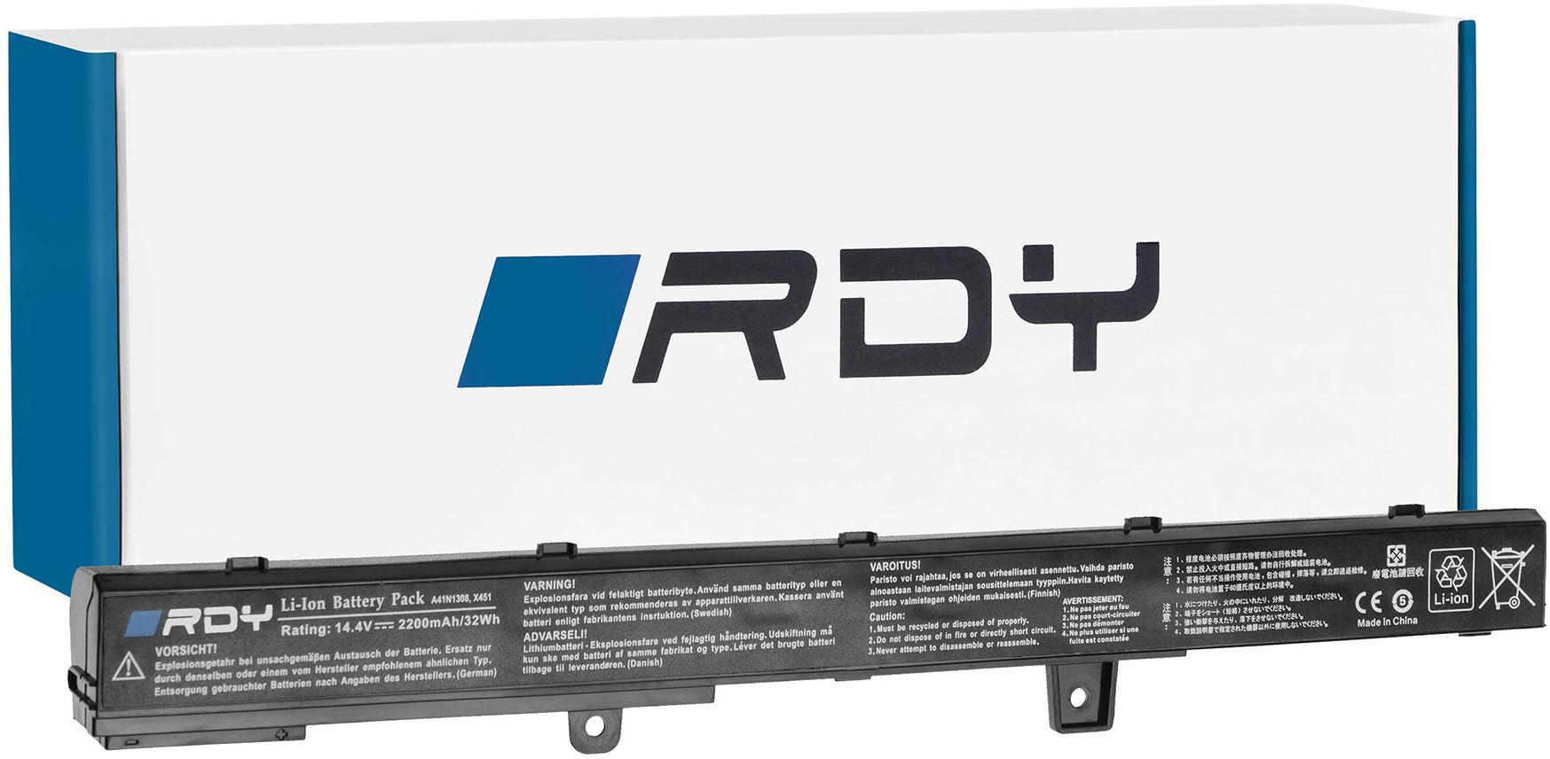 Bateria RDY A31N1319 A41N1308 do Asus X551 X551C X551CA X551M X551MA X551MAV F551 F551C F551M R512C R512CA R553L