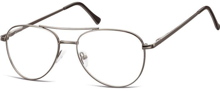 Okulary oprawki Pilotki zerówki metalowe korekcyjne 789A grafitowe