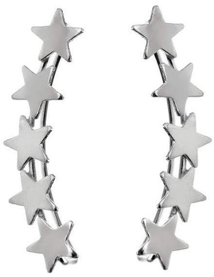 Srebrne kolczyki 925 nausznice gwiazdy 1,1g