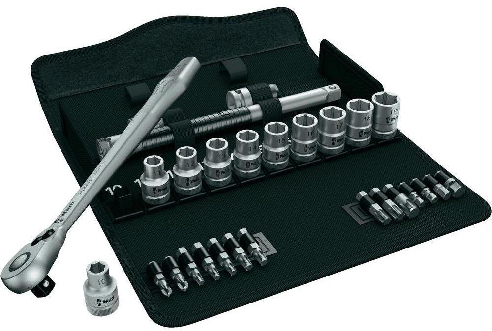 """zestaw 28szt. kluczy nasadowych 1/2"""" 10-19mm i bitów 5/16"""" Zyklop Metal Wera [05004078001]"""