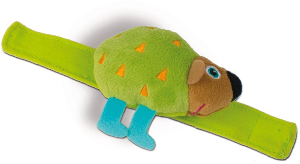 OOPS 13005.24 Bransoletka dźwiękowa Miękka kolekcja zabawek Easy-Shake Jeż Grzechotka na nadgarstek, wielokolorowa