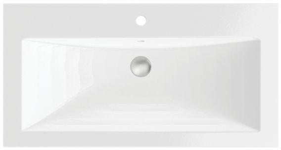 Massi Loma umywalka wpuszczana w blat 90x47 cm biały mat MSUK-L900