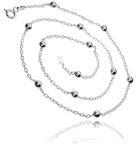 Łańcuszek srebrny Anker VII