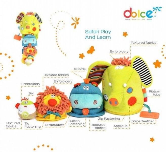 Dolce - Zabawka Sensoryczna 4w1 - Safari