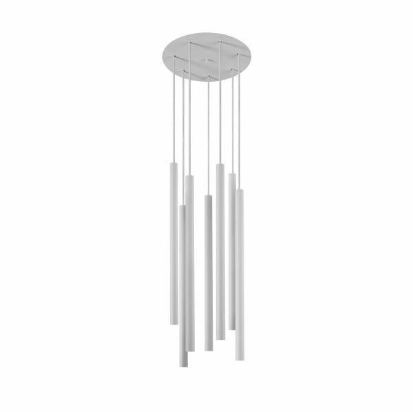 Lampa wiszaca Laser 7 punktowa sopel tuba biała 8918 - Nowodvorski Do -17% rabatu w koszyku i darmowa dostawa od 299zł !