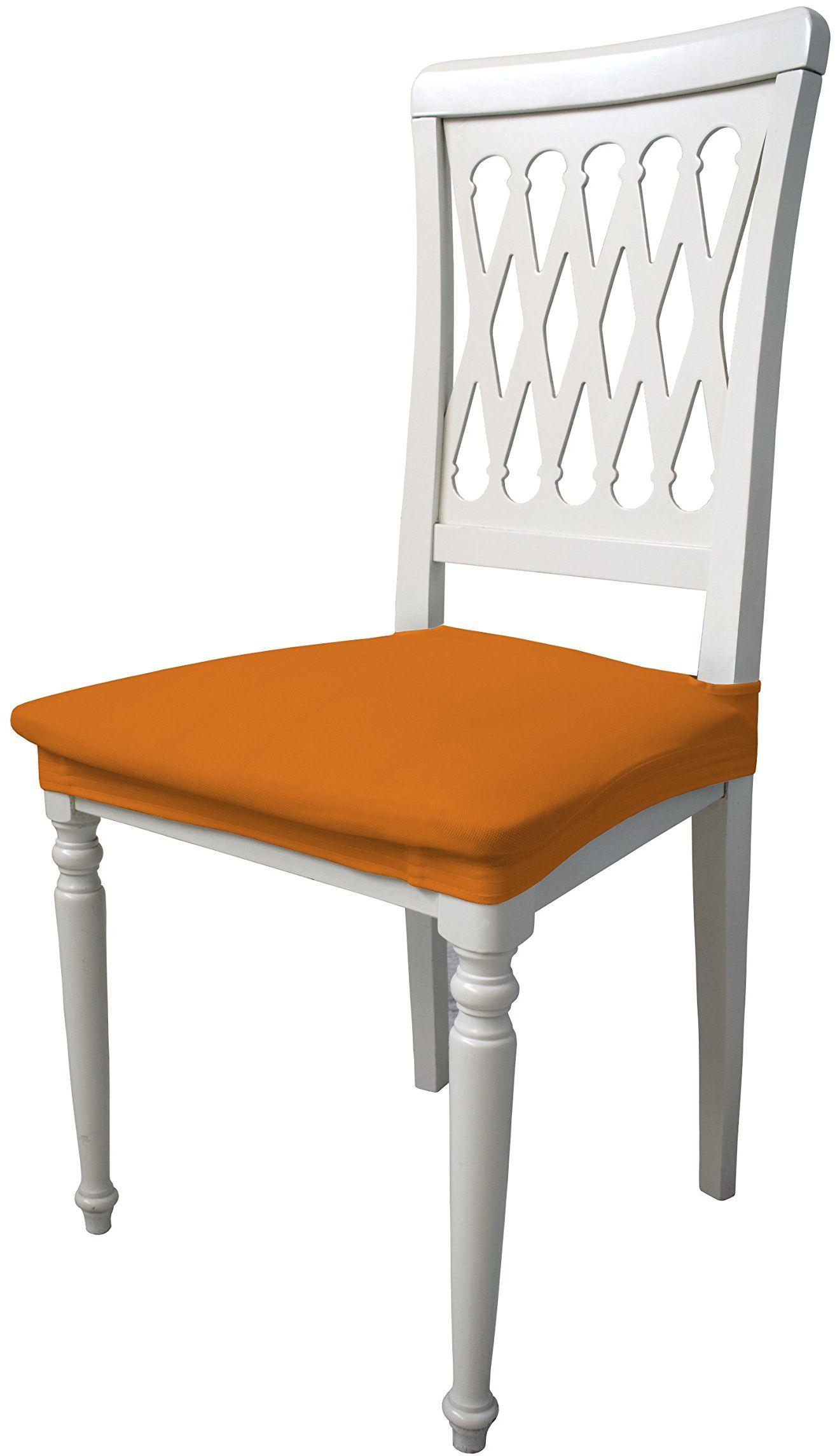 Più bello PB-AR elastyczne pokrowce na krzesła, pomarańczowe (2 sztuki), 100% poliester, standard