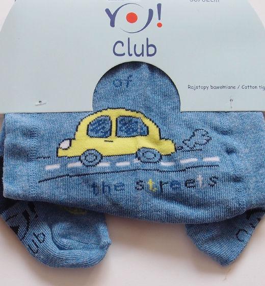 Rajstopki niemowlęce z autem w podróży