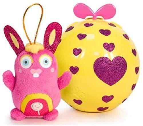 FEBER Pluszowe zwierzątko Clapis 12 cm z błyszczącymi oczkami, świeci w ciemności, unisex, fioletowy, średni