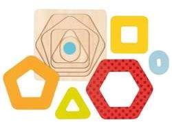 Układanka warstwowa kształty geometryczne II - GOKI