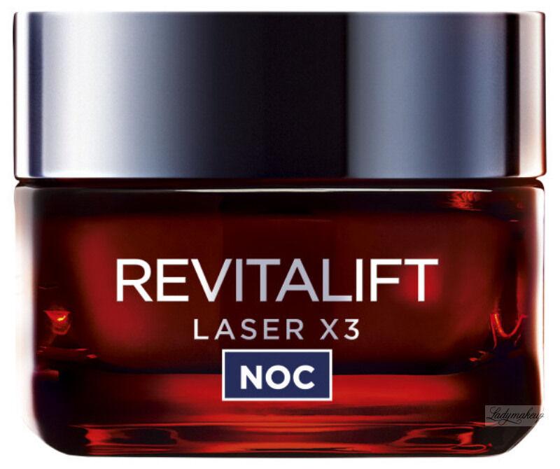 L''Oréal - REVITALIFT LASER X3 - Krem-maska anti-age na noc - 40+