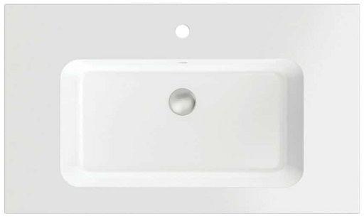 Massi Eno umywalka wpuszczana w blat 70x50 cm biały mat MSUK-E705