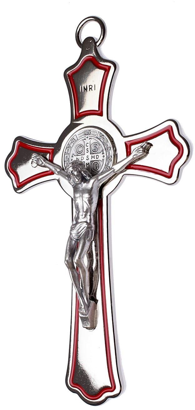 Metalowy krzyż św. Benedykta