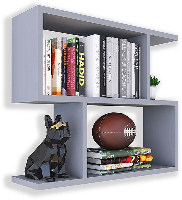 Szara wisząca półka na książki - Artiso