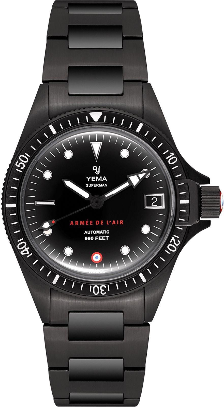 Zegarek męski Yema Superman French Air Force Black Limited Edition
