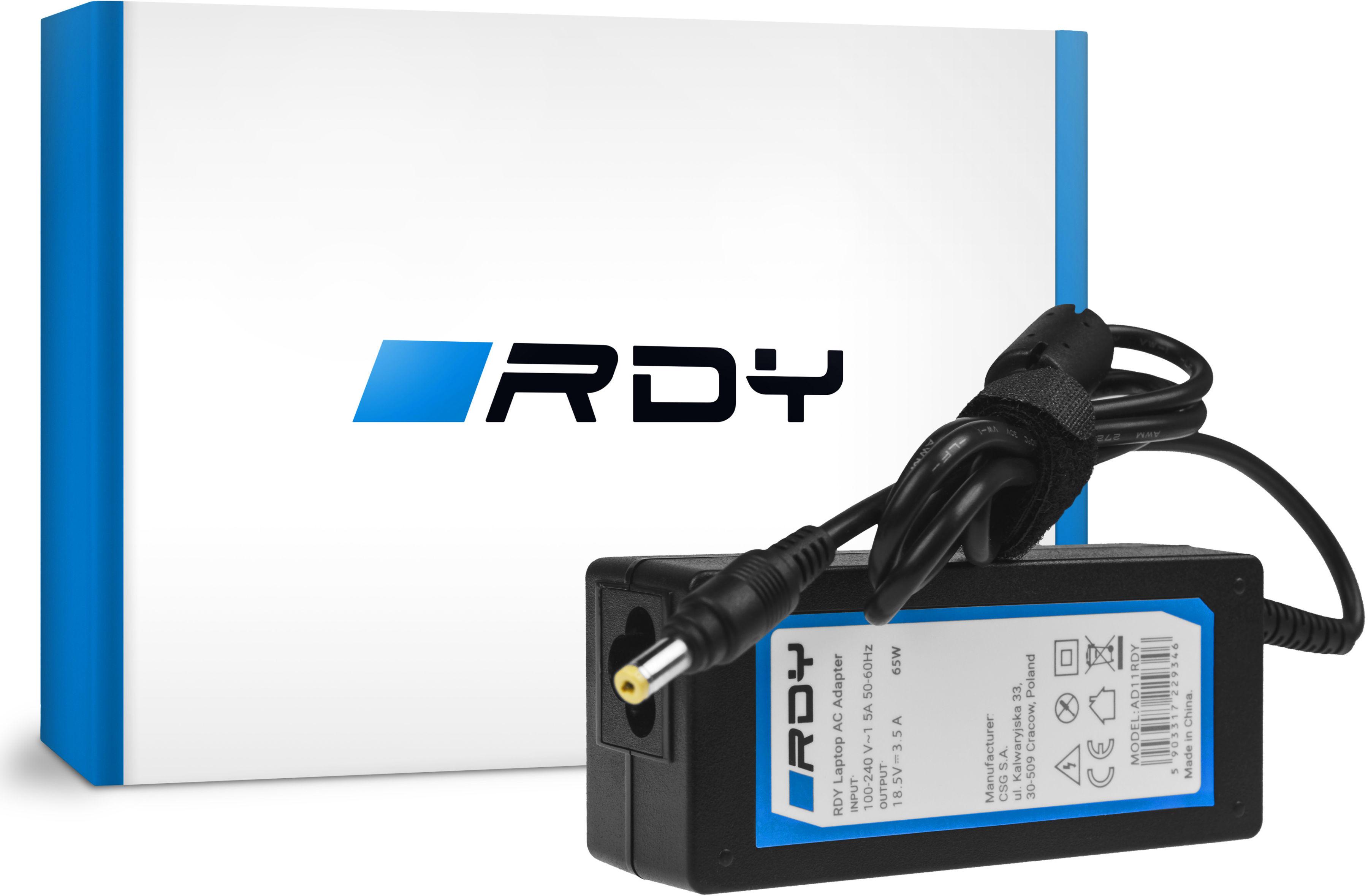 Zasilacz Ładowarka RDY 18.5V 3.5A 65W do HP Pavilion DV2000 DV6000 DV8000 Compaq 6730b 6735b nc6120 nc6220 nx6110
