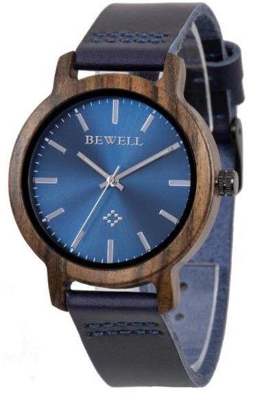 Drewniany Zegarek Bewell ZS-170AL niebieski