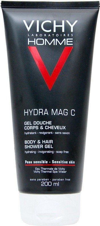 Vichy Homme Hydra-Mag C żel pod prysznic do ciała i włosów 200 ml