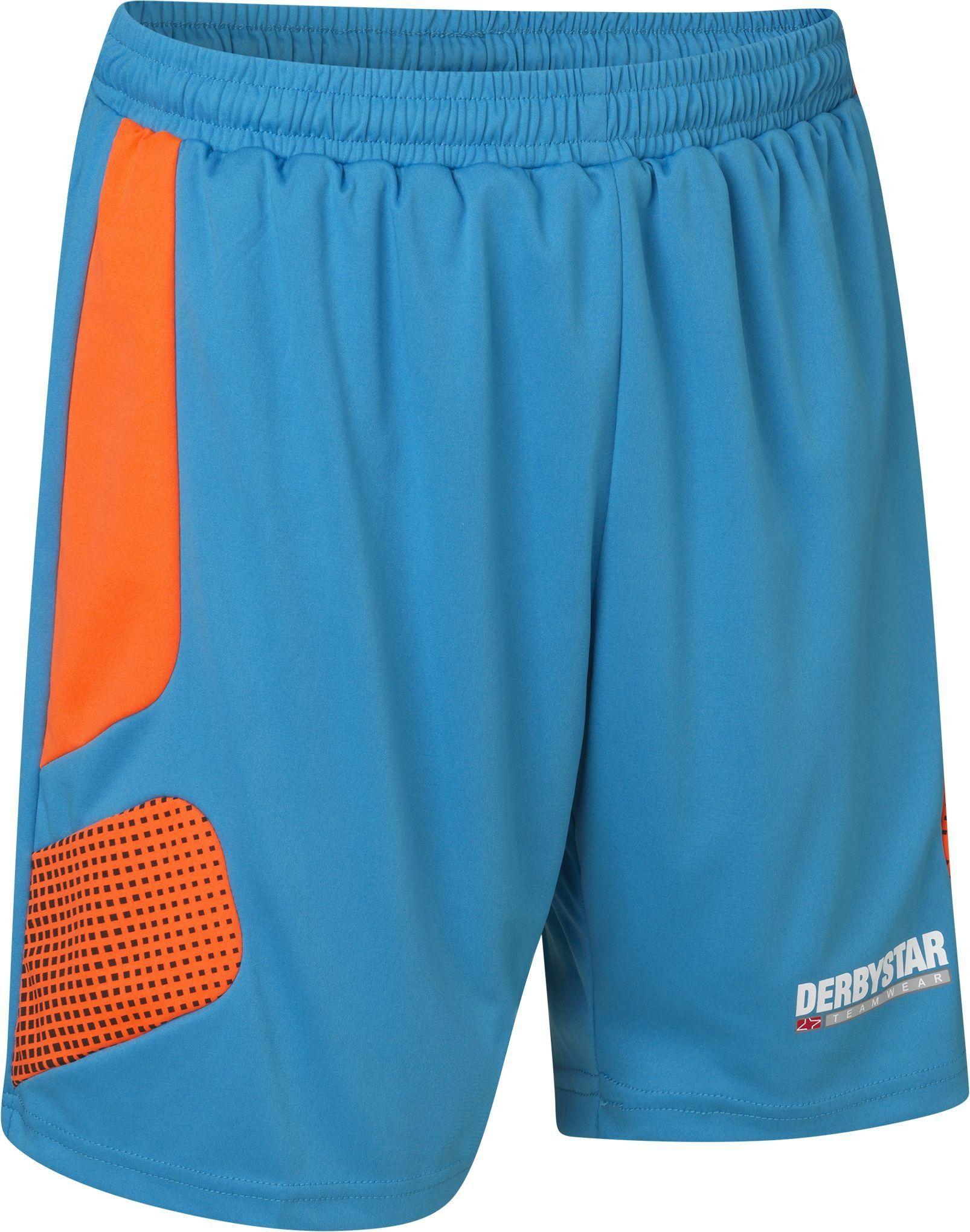 Derbystar Aponi Pro 6630040670 spodnie bramkarskie, rozmiar M, kolor petrol orange