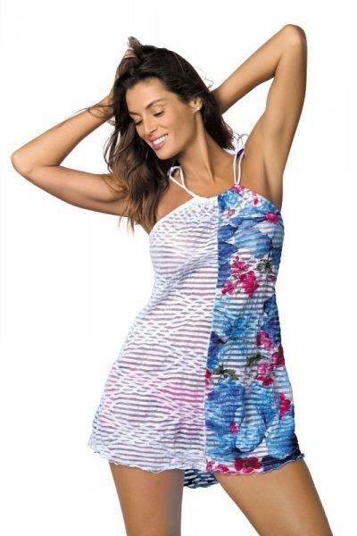Sukienka plażowa marko jenna oltremare-bianco m-416 (4)