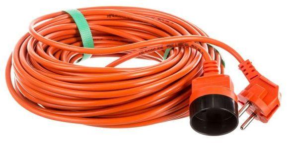 Przedłużacz ogrodowy 1-gniazdo b/u 15m /OMY 2x1/ pomarańczowy PK-1015