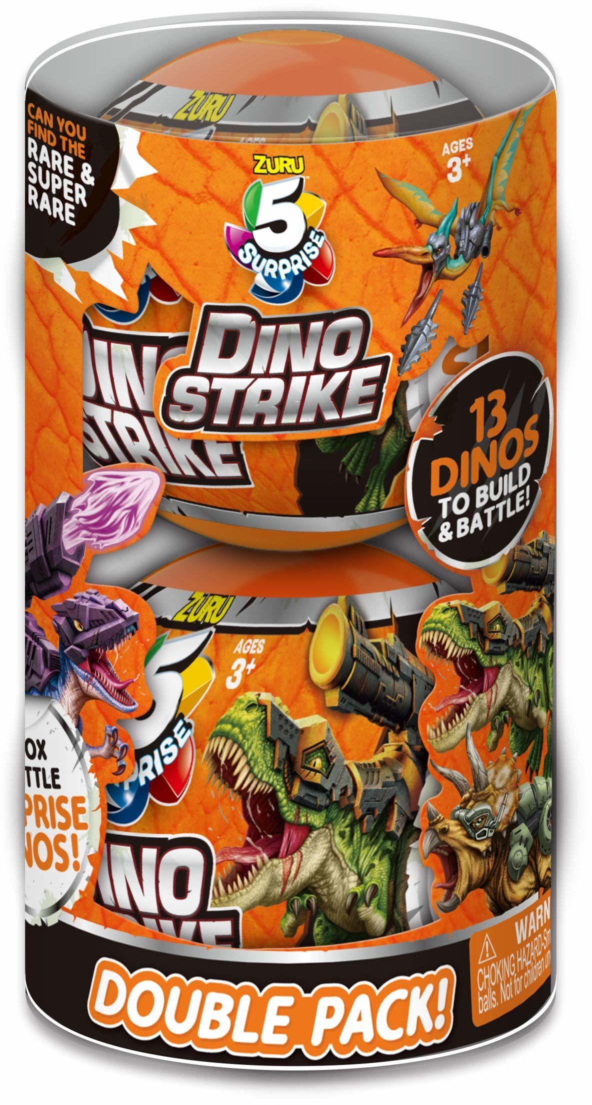 ZURU 5 SURPRISE 7748-S001 Dino Strike niespodzianka tajemnicza walka przedmioty kolekcjonerskie, pomarańczowy