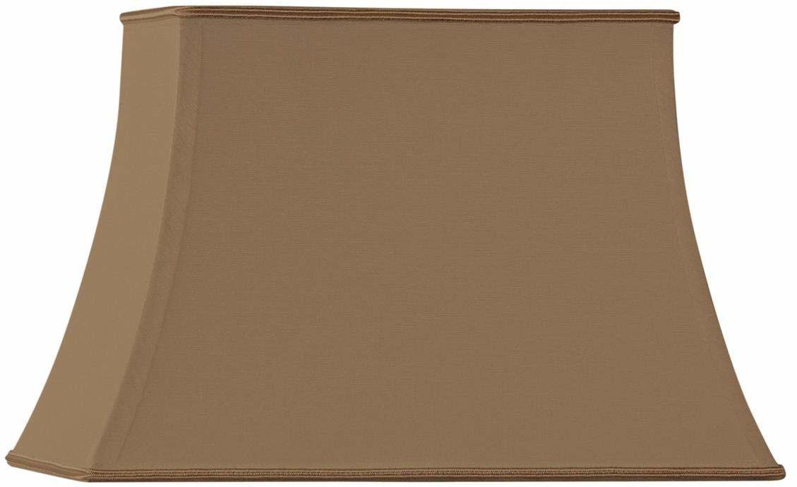 Klosz lampy, Pagoform, prostokątny, 40 x 28/25 x 18/27 cm, taupe