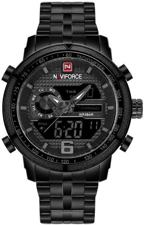 ZEGAREK MĘSKI NAVIFORCE - NF9119 (zn066c) - black/grey