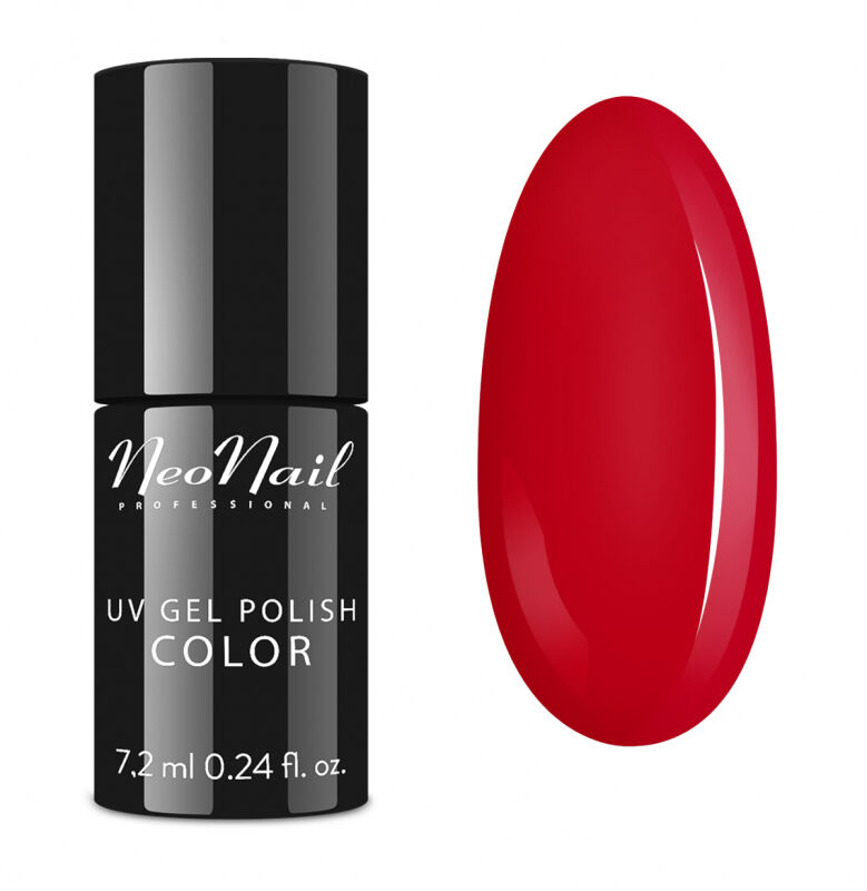 NeoNail - UV GEL POLISH COLOR - LADY IN RED - Lakier hybrydowy - 3763-7 FIERY FLAMENCO
