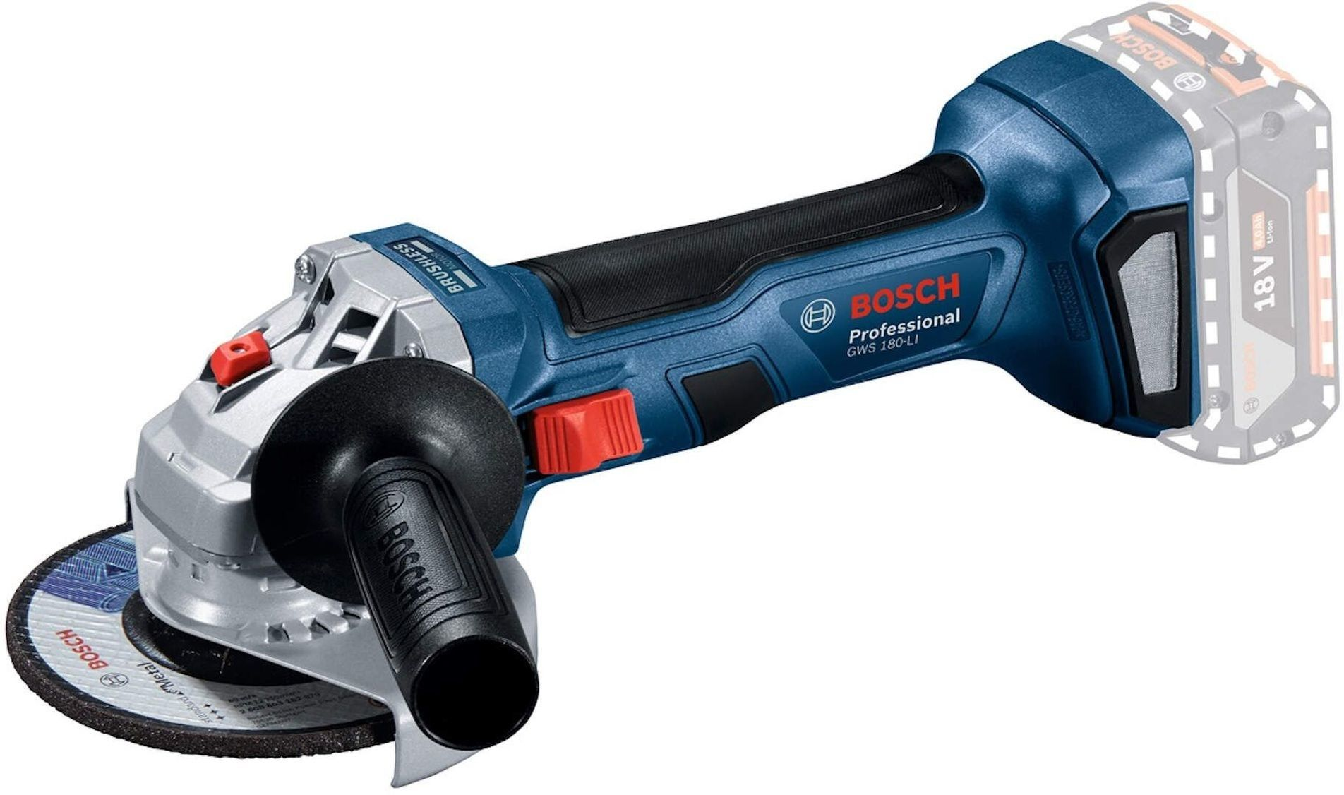 Szlifierka kątowa Bosch professional GWS 180-LI bez akumulatora
