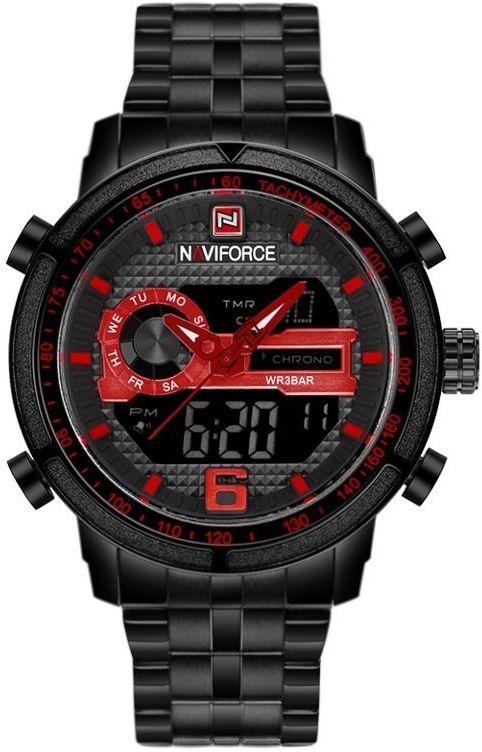 ZEGAREK MĘSKI NAVIFORCE - NF9119 (zn066d) - black/red