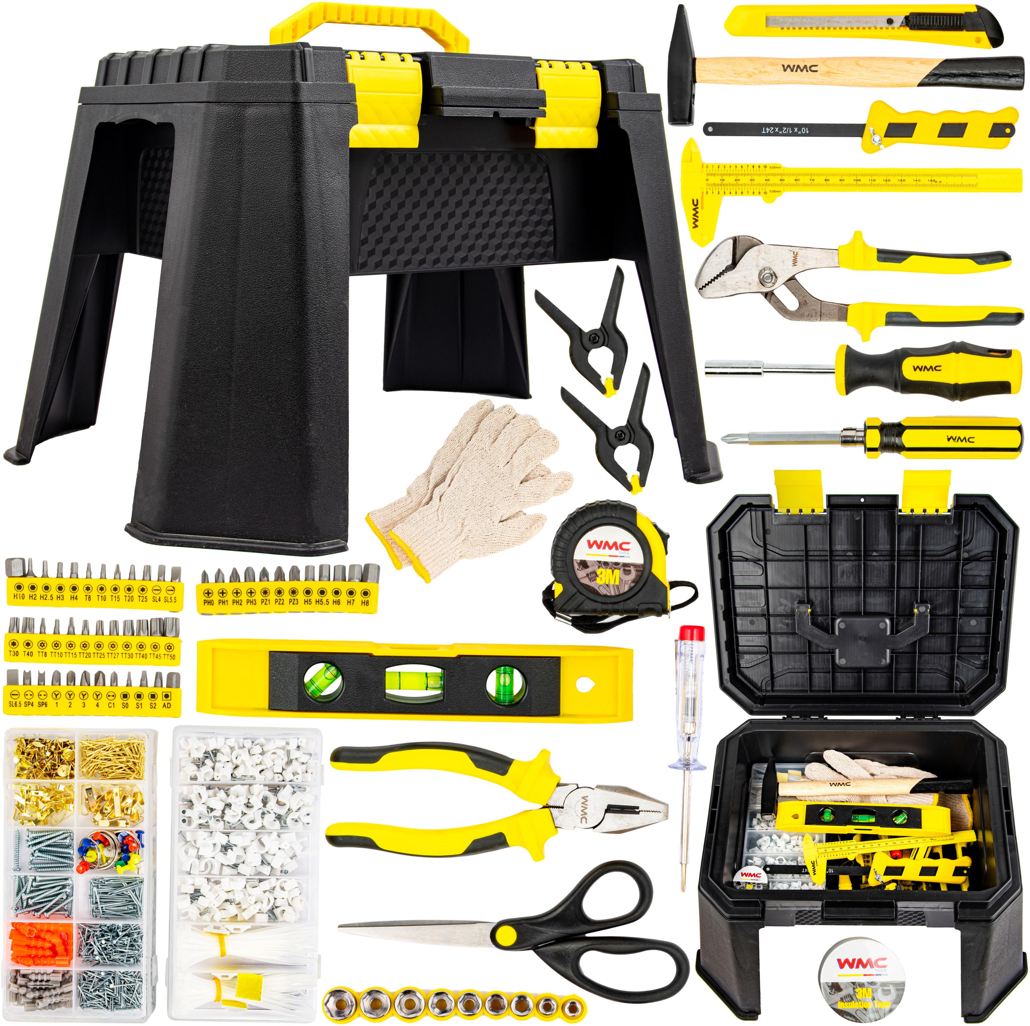 Zestaw narzędziowy 1200 elementów + stołek udźwig 150 kg TRADE HOUSE
