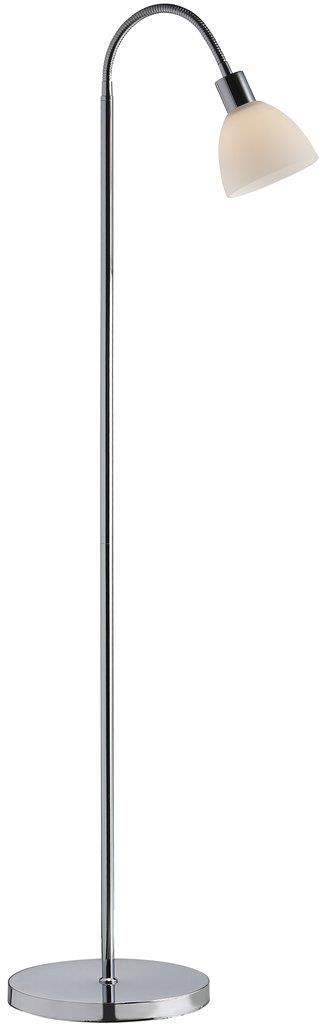 Lampa podłogowa Ray 63214033 Nordlux biało-chormowa oprawa w nowoczesnym stylu