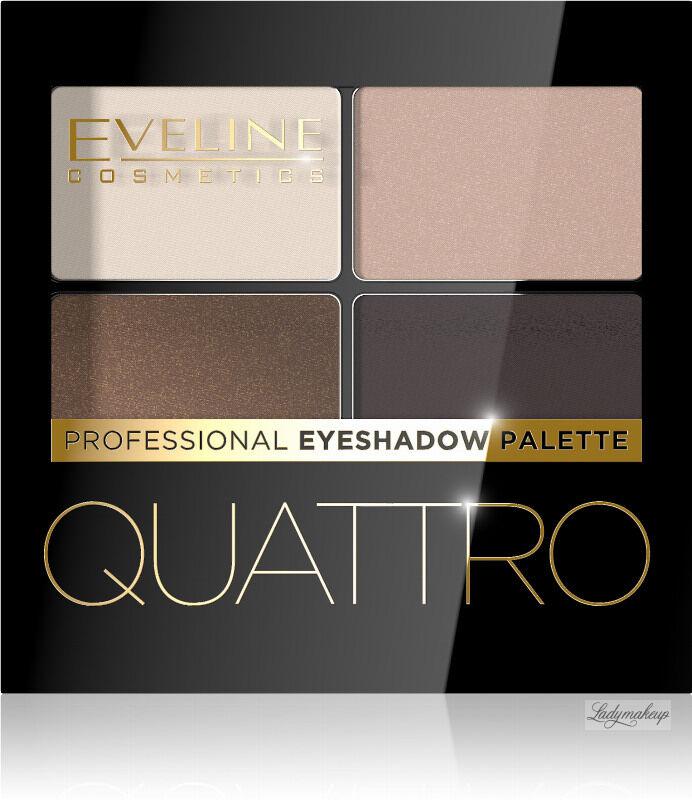 Eveline Cosmetics - QUATTRO - Professional Eyeshadow Palette - Paleta 4 cieni do oczu - 09