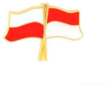 Flaga Polska - Indonezja, przypinka
