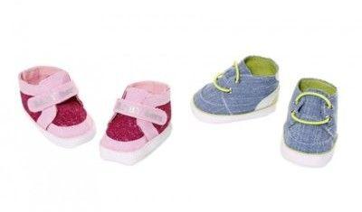 BABY Born - Modne Sneakersy dla lalki srebrne 826997 A