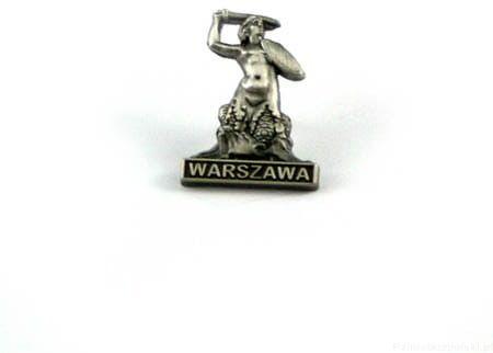 Warszawska Syrenka - przypinka