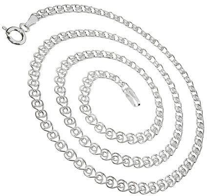Łańcuszek srebrny z serc